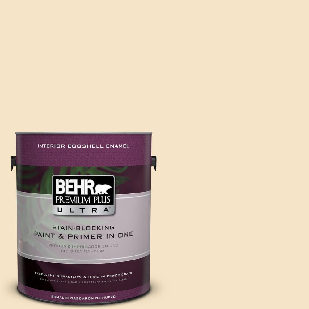 1 gal. #330C-2 Lightweight Beige Eggshell Enamel Interior Paint and Primer