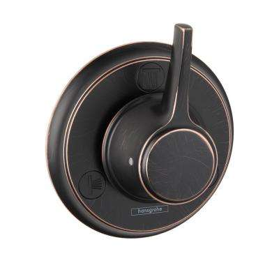 Metris C 1-Handle Trio/Quattro Diverter Valve Trim Kit in Rubbed Bronze (Valve Not Included)
