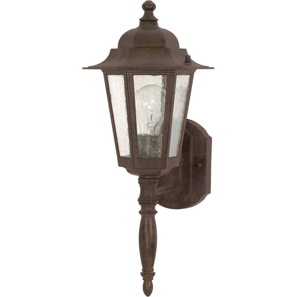 Glomar 1-Light Outdoor Old Bronze Incandescent Sconce Light