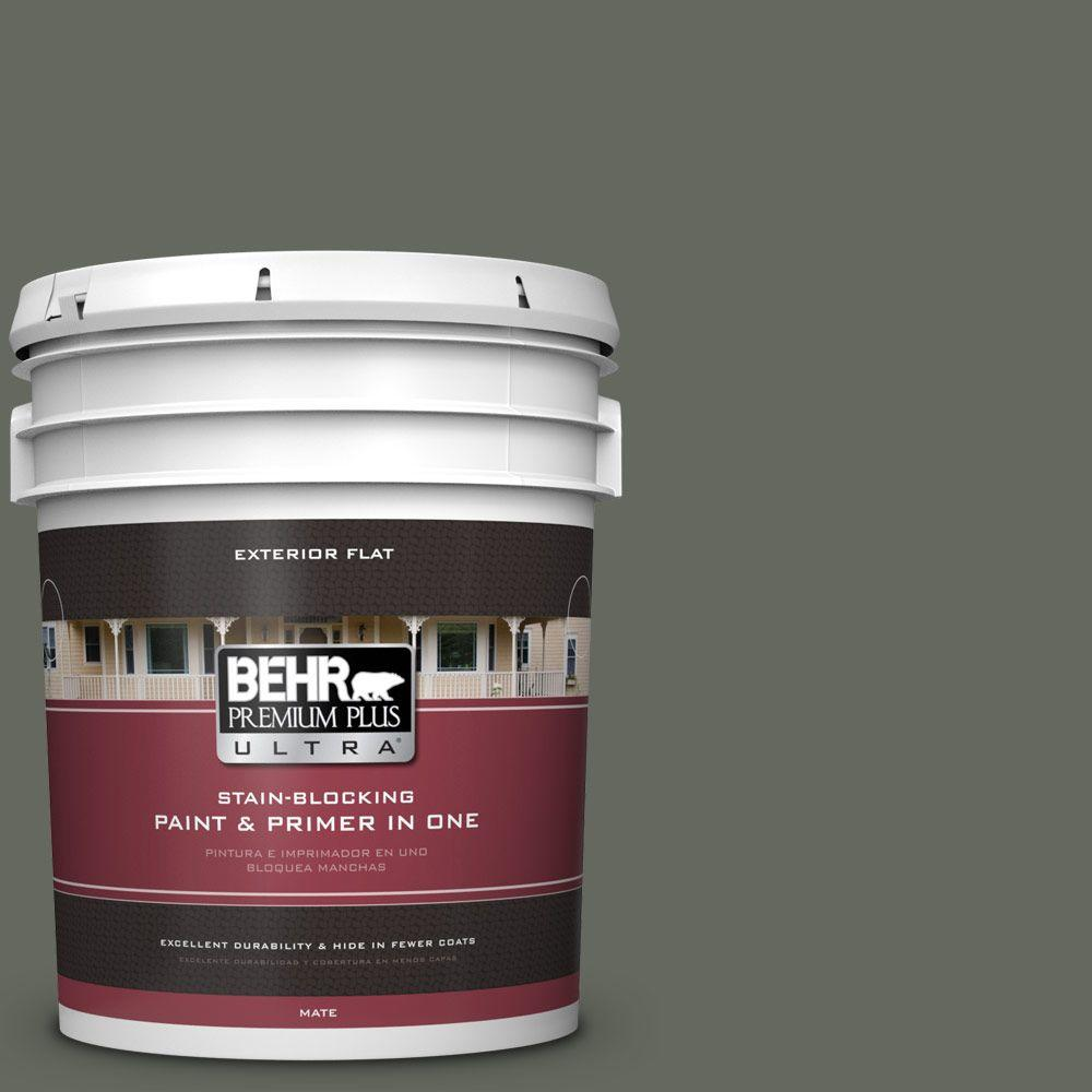 BEHR Premium Plus Ultra 5-gal. #ECC-41-3 Laurel Oak Flat Exterior Paint