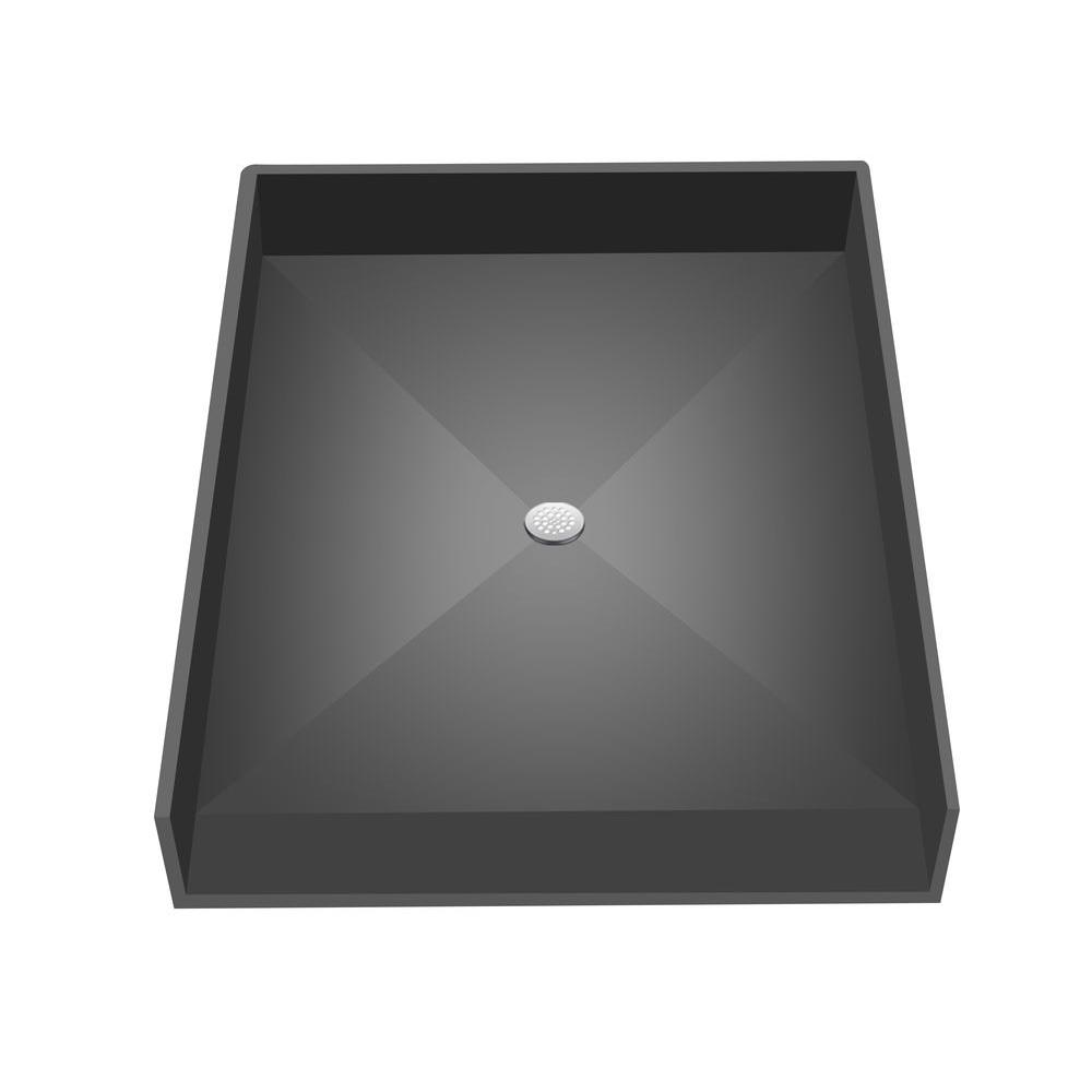 Redi Base 44 in. x 38 in. Barrier Free Shower Base with Center Drain