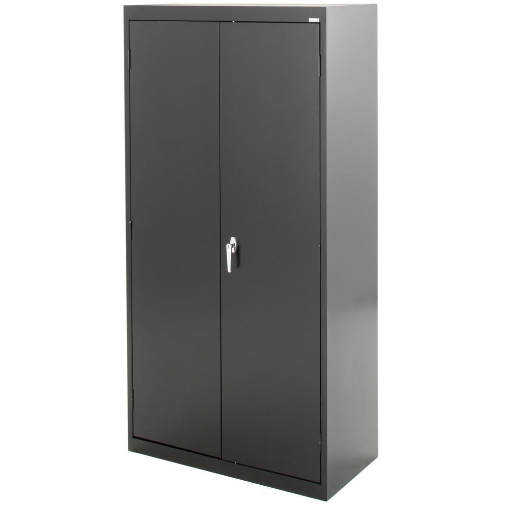 Sandusky Classic Series 30 in. H x 30 in.W x 30 in. D Steel Combination  Cabinet with Adjustable Shelves in Black