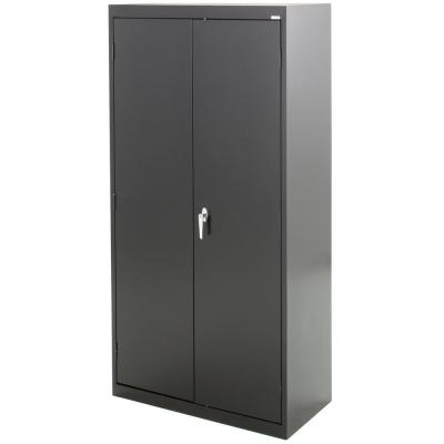 Classic Series 72 in. H x 36 in.W x 18 in. D Steel Combination Cabinet with Adjustable Shelves in Black