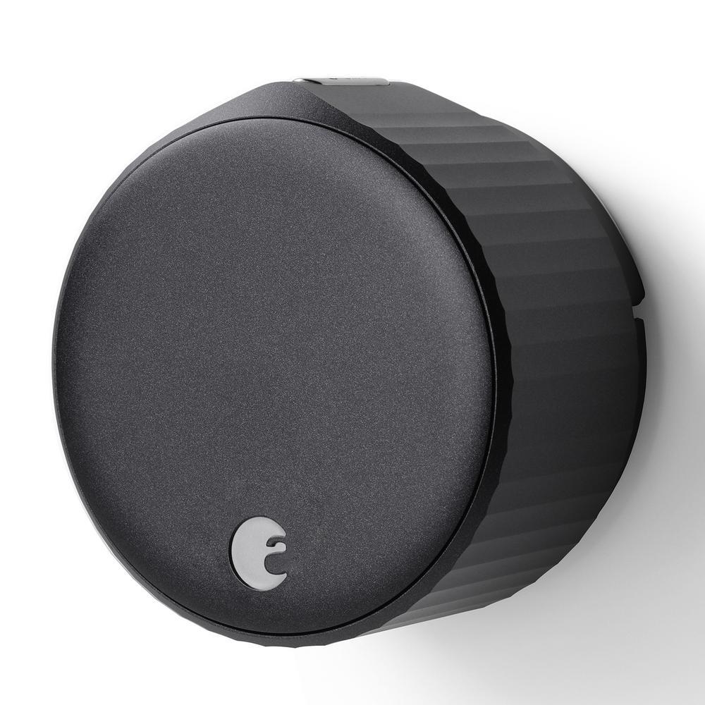 Wi-Fi Smart Lock Matte Black Single Cylinder Deadbolt Replacement