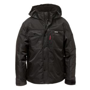 Caterpillar Insulated Twill Mens Size Large Black Polyester Water Resistant Insulated Jacket 1313004 016 L The Home Depot