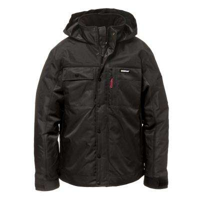 Insulated Twill Men's Size X-Large Black Polyester Water Resistant Insulated Jacket