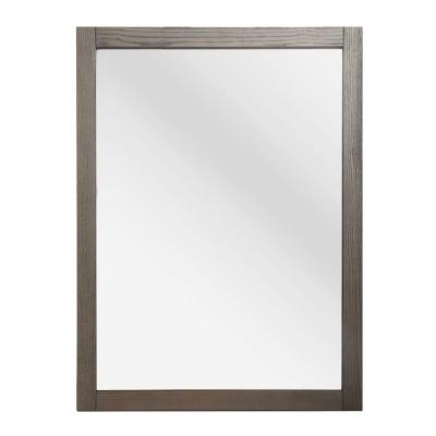 Brentwood 31 in. L x 24 in. W Wall Mirror in Driftwood
