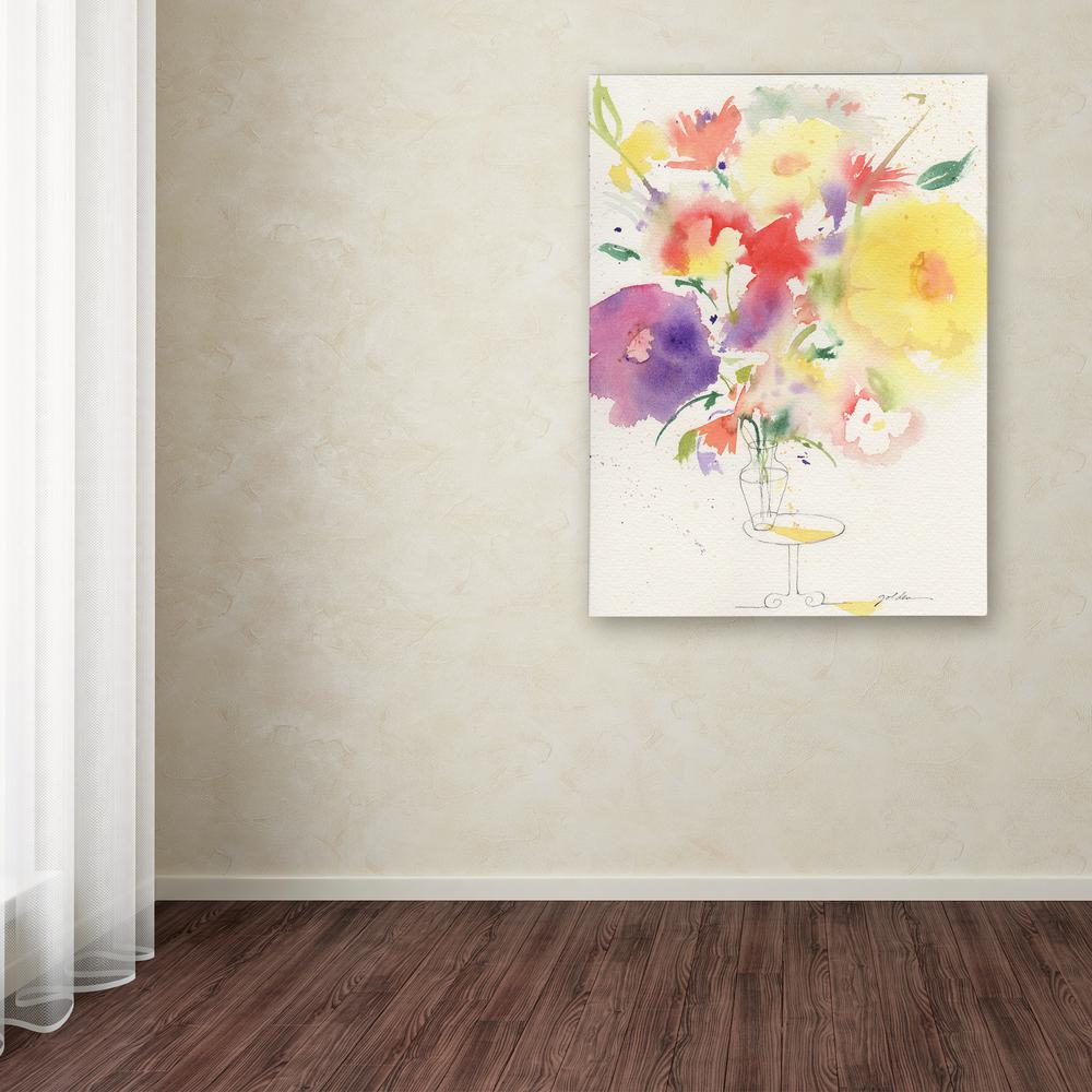 """24 in. x 18 in. """"Holiday Bouquet"""" by Sheila Golden Printed"""