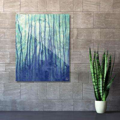 """20 in. x 24 in. """"Running Up Blue"""" Acrylic Wall Art Print"""