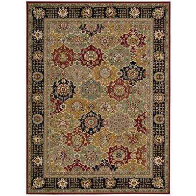 Persian Crown Picard Black 3 ft. 9 in. x 5 ft. 9 in. Area Rug
