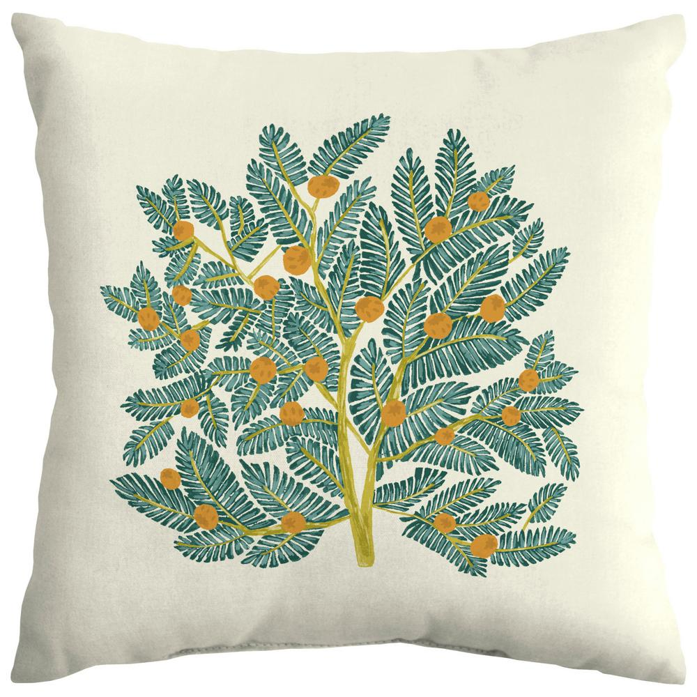 Arden Selections Artisans 18 in. x 18 in. Eugene Leaf Outdoor Square Throw Pillow Square