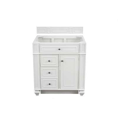 Bristol 30 in. W Single Vanity Cabinet Only in Cottage White