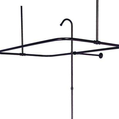 43 in. x 23 in. Side Mount Shower Riser with Enclosure in Oil Rubbed Bronze