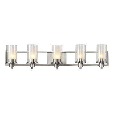 Odyssey 5-Light Brushed Nickel Bath Light