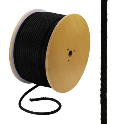 3/8 in. x 1 ft. Polypropylene Solid Braid Rope, Black