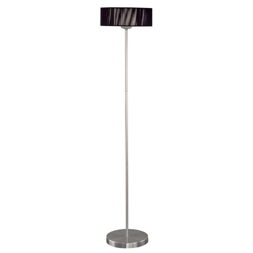 Eglo Monique 53 in. 3-Light Matte Nickel and Black Floor Lamp-DISCONTINUED