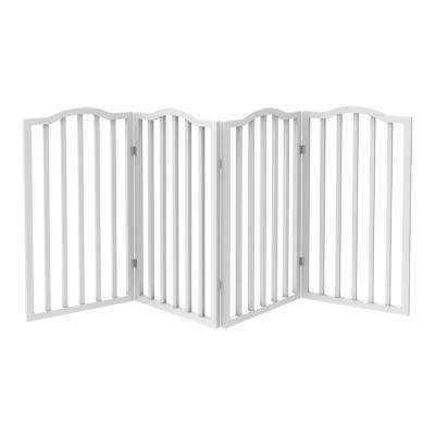72 in. x 32 in. Wooden Freestanding White Pet Gate