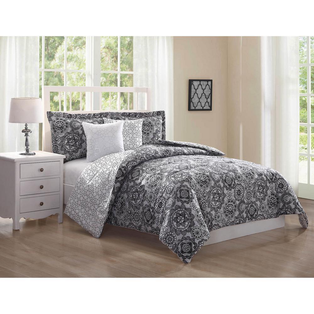 Bianca Reversible 5-Piece Queen Comforter Set