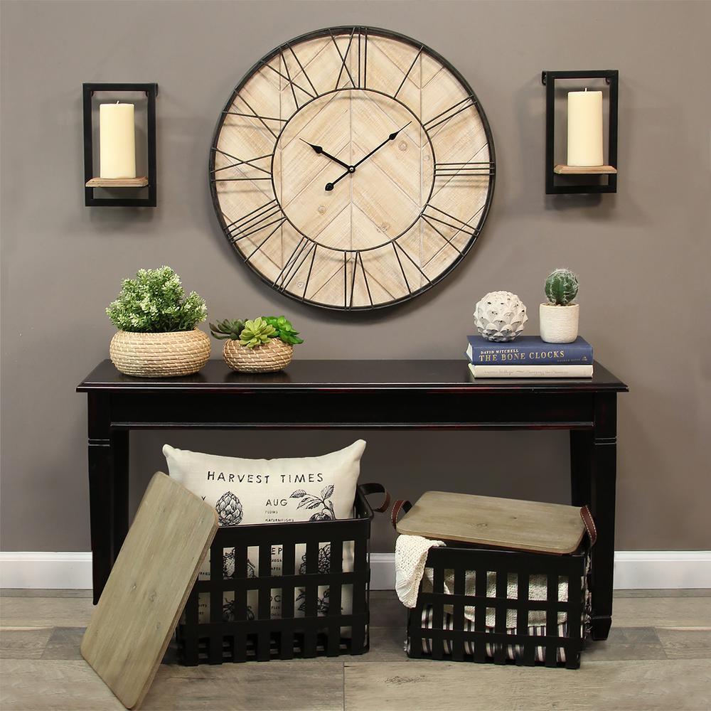 Stratton Home Decor Sam Wall Clock