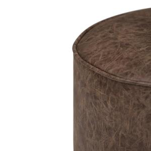 Remarkable Simpli Home Kearney Transitional Round Pouf In Distressed Alphanode Cool Chair Designs And Ideas Alphanodeonline