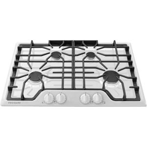 3 frigidaire gallery 30 in gas cooktop in white with 4 burners
