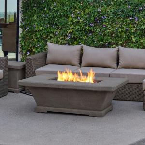 Real Flame Monaco 55 In Fiber Concret Rectangle Propane