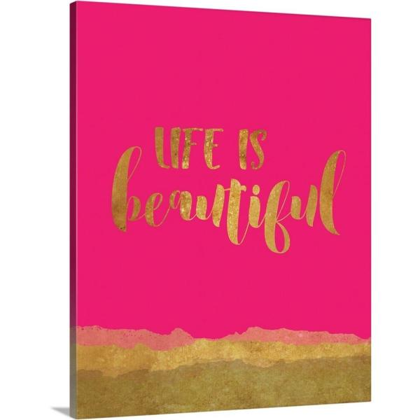 Greatbigcanvas Life Is Beautiful By Tammy Apple Canvas Wall Art