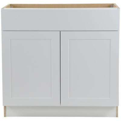 Cambridge Shaker Assembled 36x34.5x24.5 in. All Plywood Base Cabinet w/ 1 Soft Close Drawer & 1 Soft Close Door in White