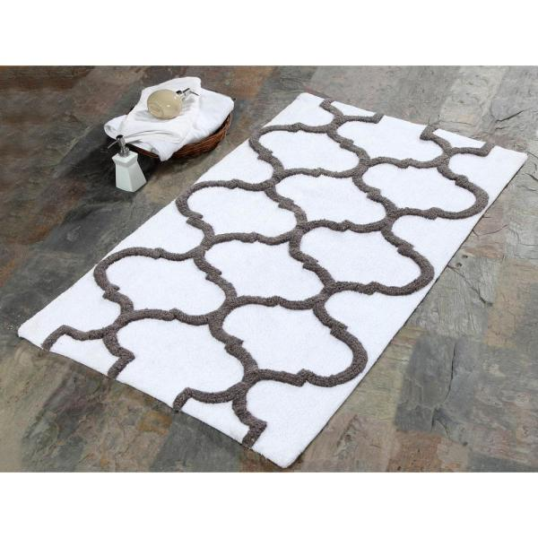 Saffron Fabs 34 in. x 21 in. Bath Rug Cotton in
