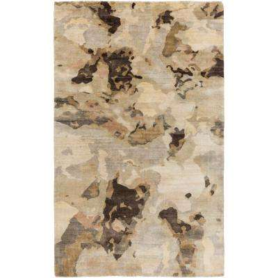 Takahama Beige 2 ft. x 3 ft. Indoor Area Rug