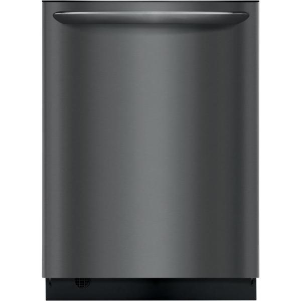 Built-in Tall Tub Dishwasher with Dual OrbitClean Spray Arm in Black Stainless Steel, ENERGY STAR, 49 dBA
