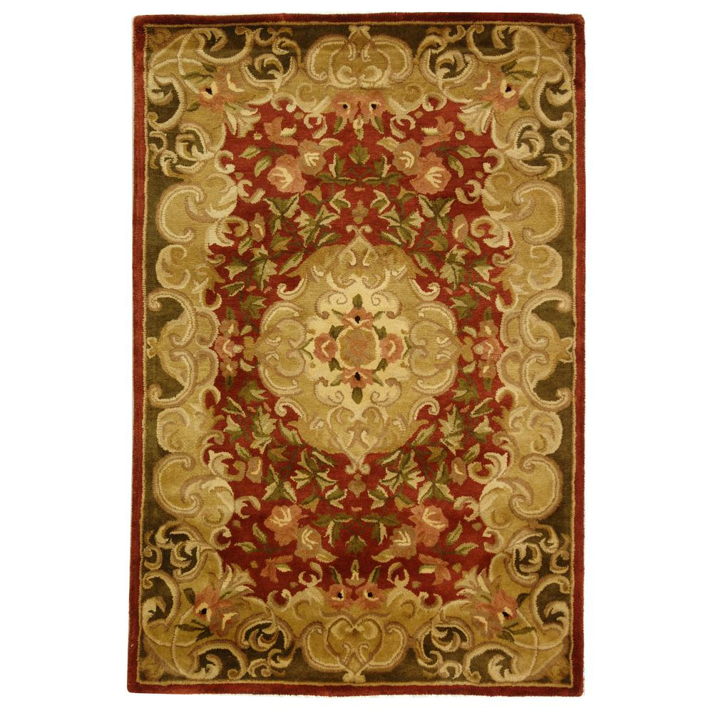 Safavieh Classic Rust Green 4 Ft X 6 Ft Area Rug Cl234a