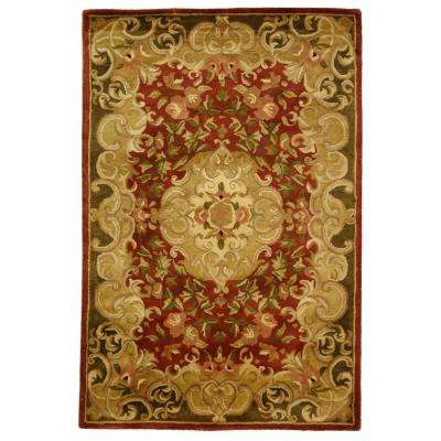 Classic Rust/Green 4 ft. x 6 ft. Area Rug