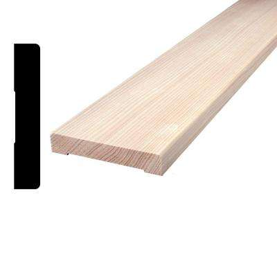 Hemlock S4SE2E Vertical Grain Board (Common: 1 in. x 4 in. x 96 in.;Actual: 0.6875 in. x 3.5 in. x 96 in.)