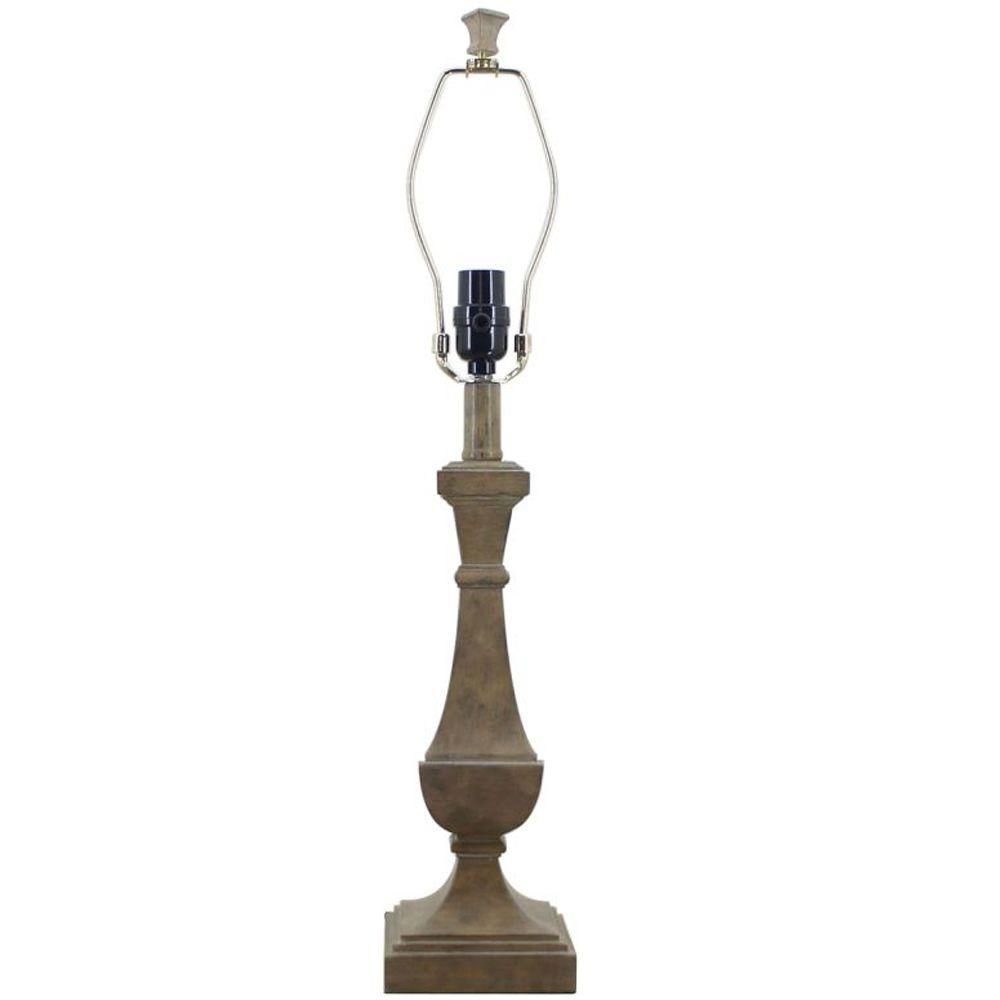 Hampton Bay Mix Match 25 5 In Whitewashed Wood Table Lamp Title