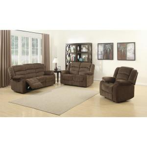 AC Pacific Bill Contemporary 3-Piece Brown Living Room ...