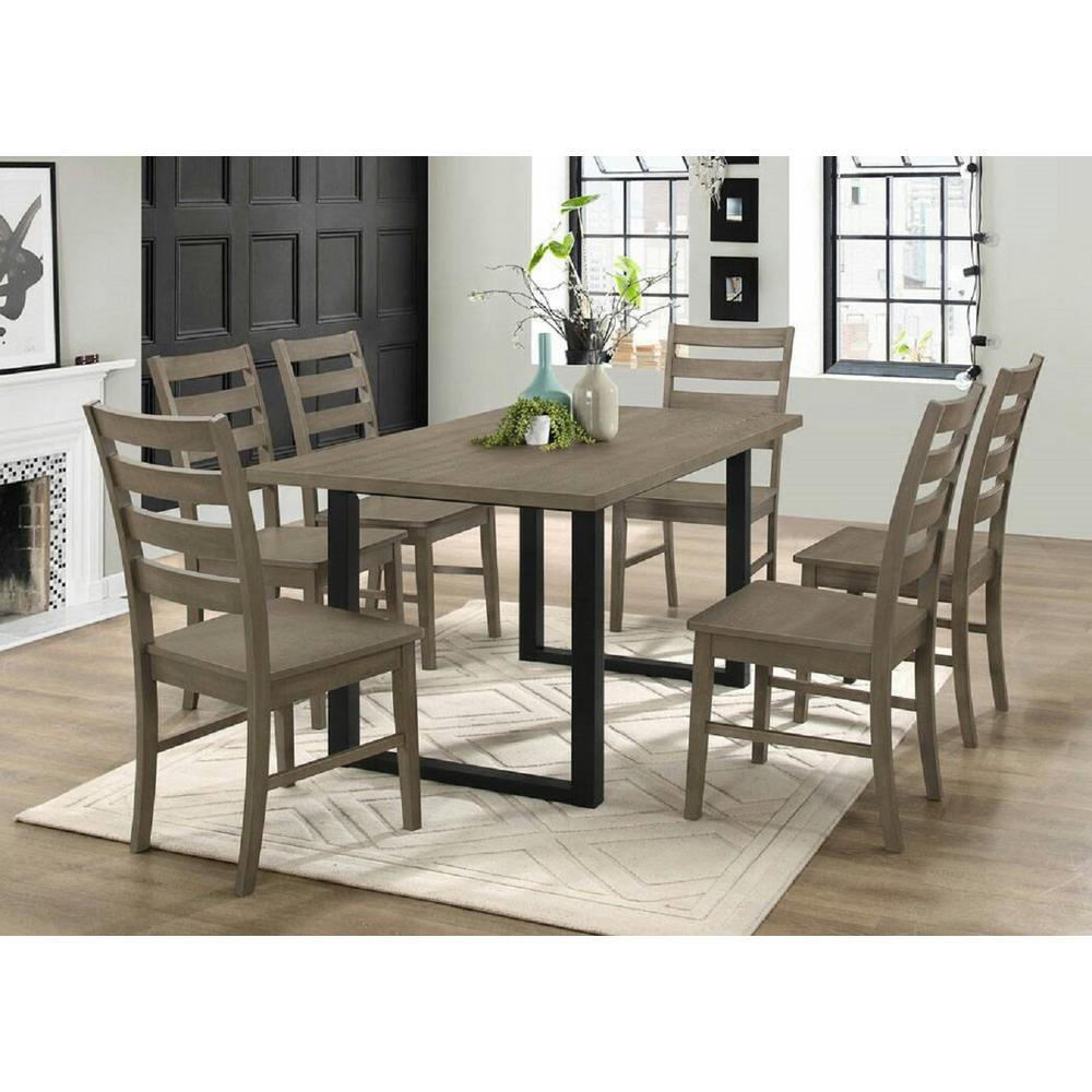 Home Furniture Company: Walker Edison Furniture Company Madison 7-Piece Aged Grey