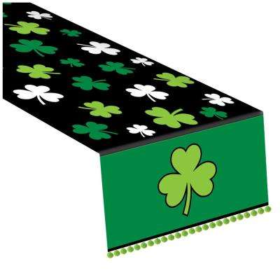 Shamrock 14 in. x 72 in. Polyester St. Patrick's Day Table Runner (2-Pack)