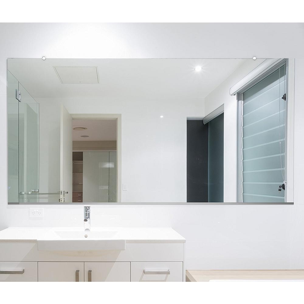 Safety Mirrors For Bathrooms: Fab Glass And Mirror 48 In. X 60 In. Rectangle Frameless