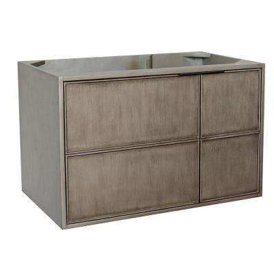 Scandi 36 in. W x 21.5 in. D Wall Mount Bath Vanity Cabinet Only in Brown