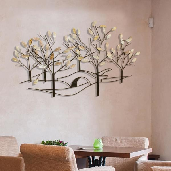 45ccefc4d42f Oil-Rubbed Bronze Tree-Lined Street Metal Work Wall Decor 2158 - The ...