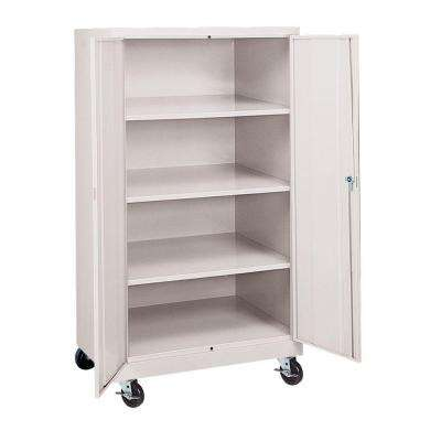 36 in. W x 66 in. H x 24 in. D Mobile Steel Cabinet in Dove Gray