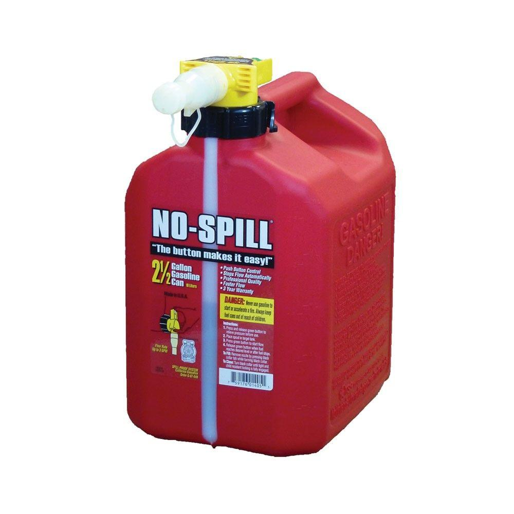 No-Spill 2.5 Gal. Poly Gas Can (CARB and EPA compliant)