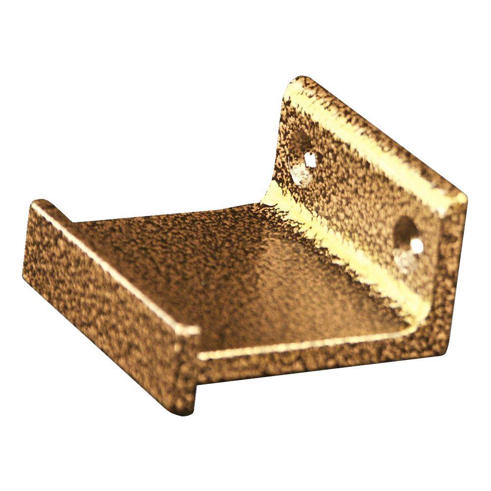 Hammered Antique Brass Horizontal Roller Bracket Kit