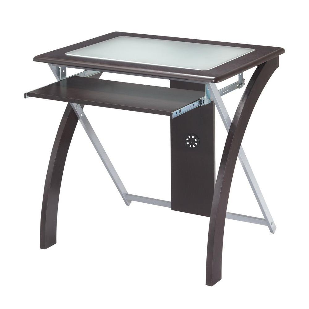 Espresso and Silver Desk