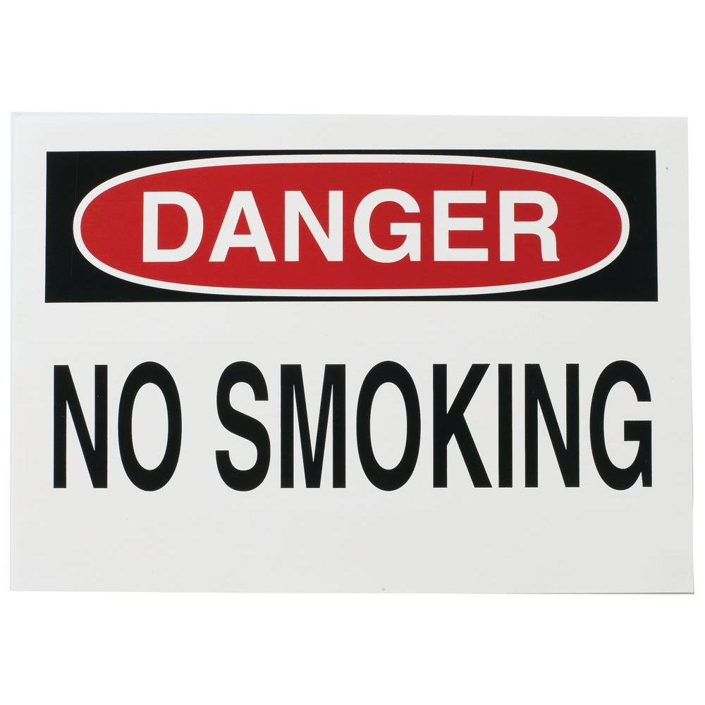 10 in. x 14 in. High-Performance Polyester No Smoking Sign