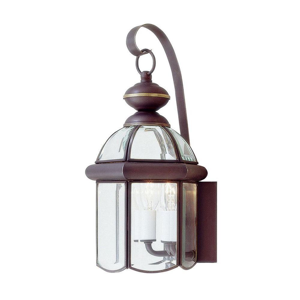 Livex Lighting Wall-Mount 2-Light Outdoor Bronze Incandescent Lantern