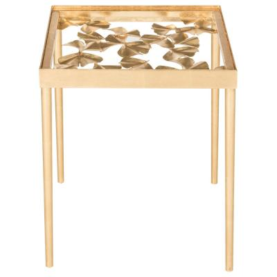 Otto Antique Gold Side Table