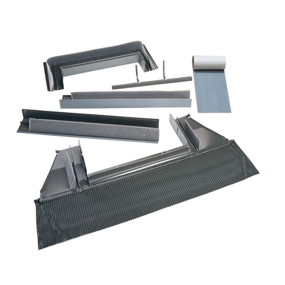 2270 High-Profile Tile Roof Flashing with Adhesive Underlayment for Curb Mount