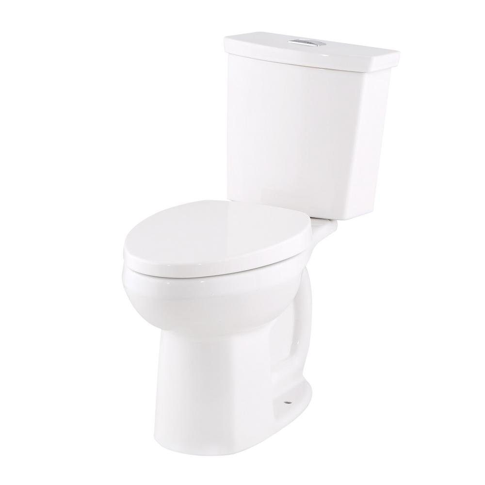 American Standard Cadet Ultra Low Tall Height 2-Piece 0.92/1.28 GPF Dual Flush Right Elongated Toilet in White, Seat Included